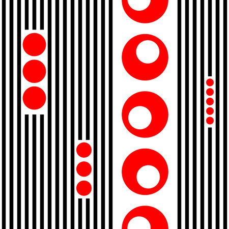 circle pattern: Seamless Vertical Stripe and Circle Pattern. Vector Striped Background