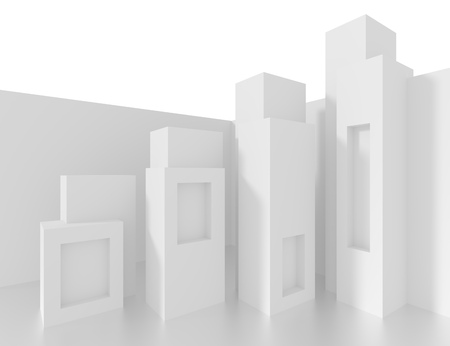 architecture design: White Architecture Background. Abstract Column Design