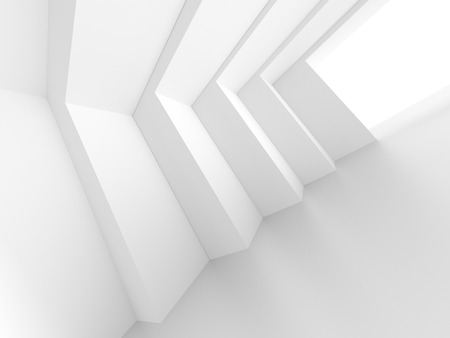 white abstract: Modern Interior Design. Abstract White Background