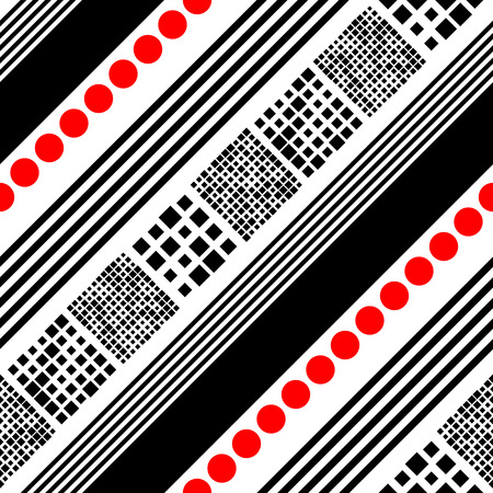 diagonal: Seamless Diagonal Stripe Pattern. Vector Black and Red Background Illustration
