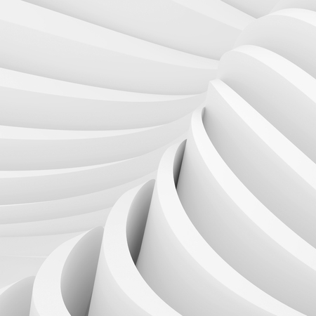 wallpaper image: Abstract Arcitecture Background. White Wave Wallpaper. 3d Rendering Image