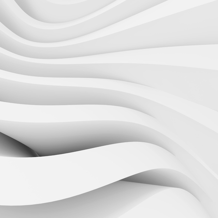 wallpaper image: Abstract Architecture Background. White Wave Wallpaper. 3d Rendering Image