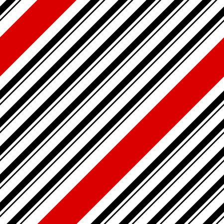 black and red: Seamless Diagonal Stripe Pattern. Vector Black and Red Background Illustration