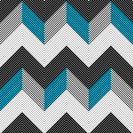 blue background texture: Seamless ZigZag Pattern. Abstract  Black and Blue Background. Vector Regular Texture Illustration