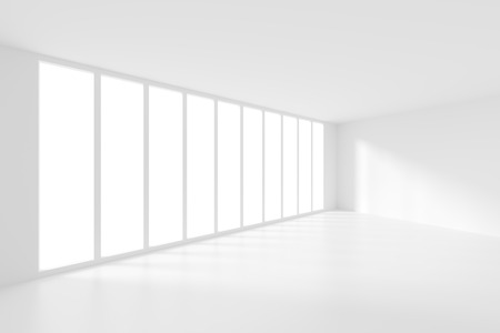 modern interior: Modern Interior Background. White Empty Room Stock Photo