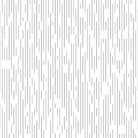 Seamless Vertical Line Pattern. Vector Black and White Chaotic Background. Minimal Geometric Texture