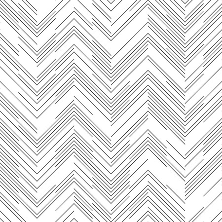 chaotic: Seamless Chaotic ZigZag Pattern. Abstract Monochrome Background. Vector Regular Line Texture
