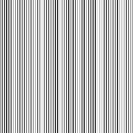 원활한 세로 스트라이프 패턴. 벡터 검은 색과 흰색 배경
