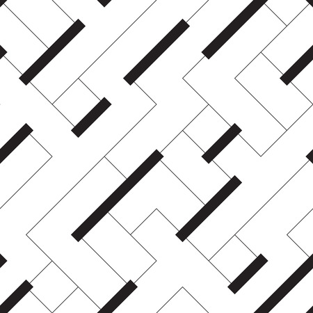 line vector: Seamless Stripe and Line Pattern. Vector Black and White Texture