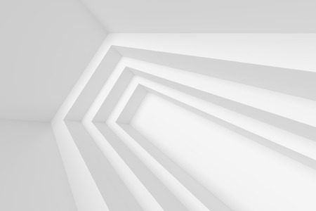 white background abstract: White Architecture Construction. 3d Abstract Background Stock Photo