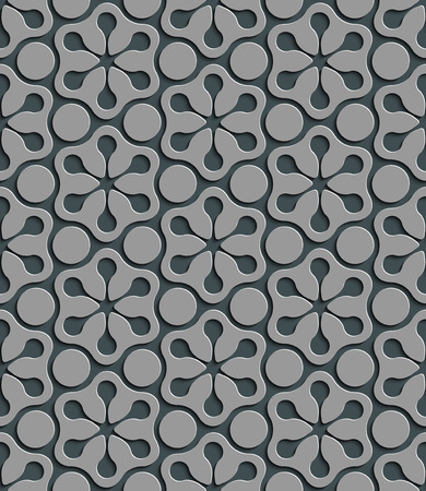 gray texture background: Seamless Snowflakes  Pattern. Vector Background. Gray Regular Texture