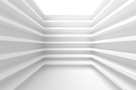 multistory: 3d White Building Construction. Abstract Architecture Background