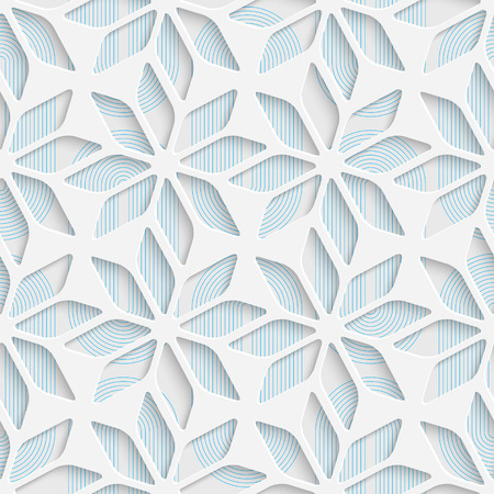 gray pattern: Abstract Flower Pattern. Seamless Geometric Background. Vector White and Blue Wallpaper