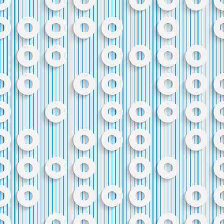 circle pattern: Abstract Circle Pattern. Seamless Geometric Background. Vector White and Blue Wallpaper Illustration