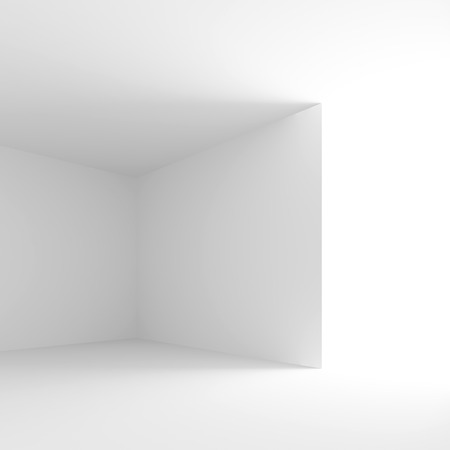 od: 3d Illustration od Interior Design. White Room with Window. Abstract Architecture Background