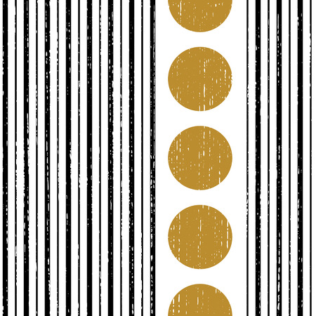 Seamless Vertical Stripe and Circle Pattern.