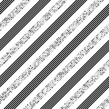 Seamless Diagonal Stripe and Dot Pattern.