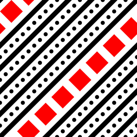 Seamless Diagonal Stripe and Square Pattern.