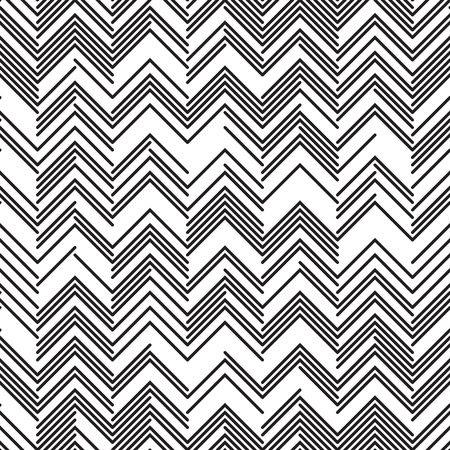 Seamless Zig Zag Pattern. Abstract  Monochrome Background.  イラスト・ベクター素材