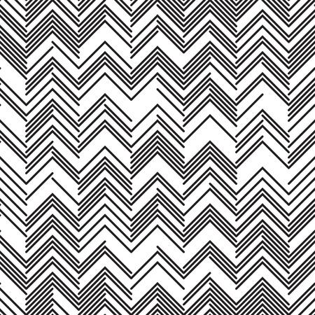 zig: Seamless Zig Zag Pattern. Abstract  Monochrome Background. Illustration