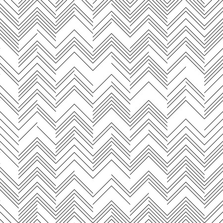 zag: Seamless Zig Zag Pattern. Abstract  Black and White Background.