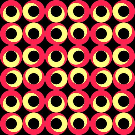 regular: Seamless Circle Background. Vector Regular Texture Illustration