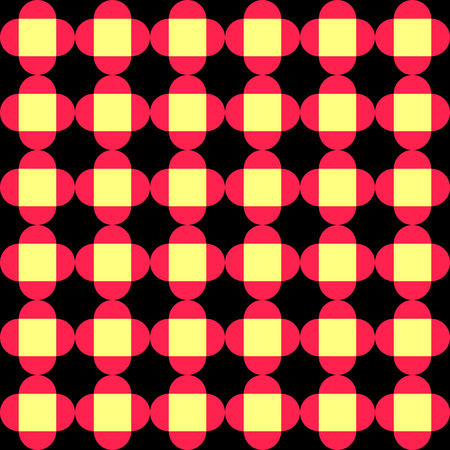 Seamless Square and Circle Pattern. Abstract Background. Vector Regular Texture