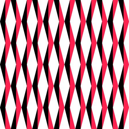 regular: Seamless Grid Pattern. Vector Black and Red Background. Regular Texture Illustration