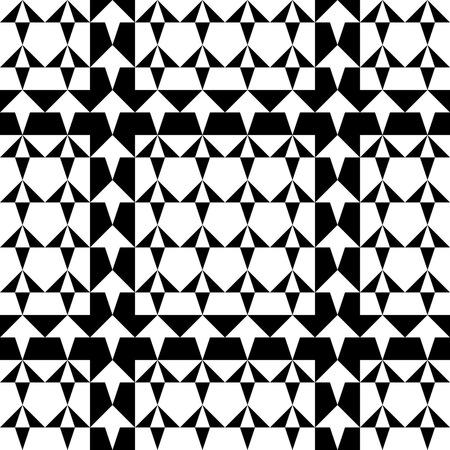pattern geometric: Seamless Geometric Pattern. Vector Black and White Texture