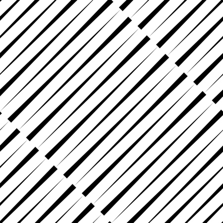 retro pattern: Seamless Diagonal Stripe Pattern. Vector Black and White Background. Abstract Line Design