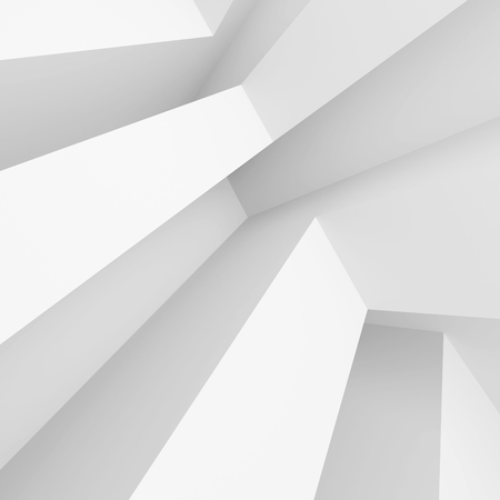 white abstract: Abstract Architecture Background. White Minimal Interior Design, 3d Illustration of Modern Building Construction