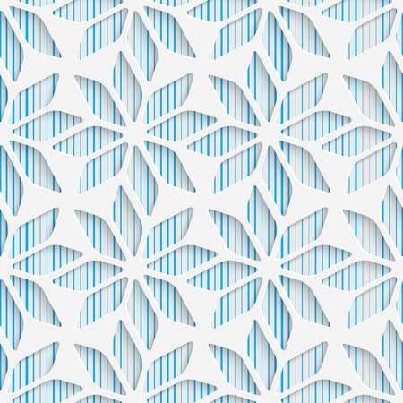 blue star background: Seamless Star Design. Futuristic Tile Pattern. 3d Elegant Minimal Geometric Background. Abstract White and Blue Grid Wallpaper