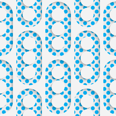 futuristic wallpaper: Seamless Circle Design. Futuristic Tile Pattern. 3d Elegant Minimal Geometric Background. Abstract White and Blue Grid Wallpaper