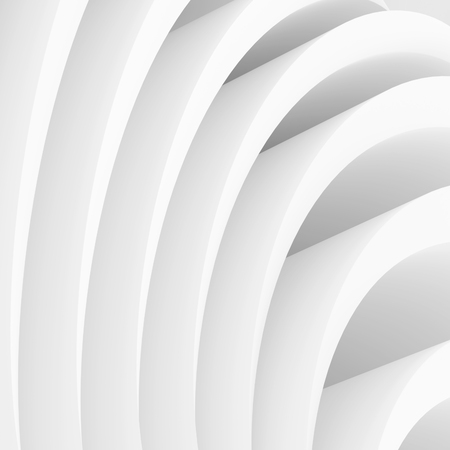 wallpaper image: Abstract Architecture Background. White Wave Wallpaper. 3d Rendering Image of Minimal Design