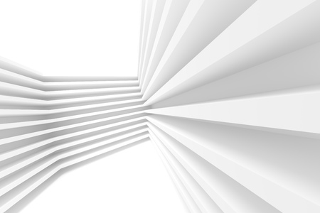 3d Illustration of White Abstract Architecture Background. Building Blocks