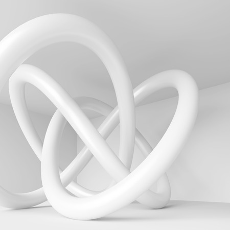 3d Rendering of White Arch Construction. Abstract Architecture Background Stock Photo
