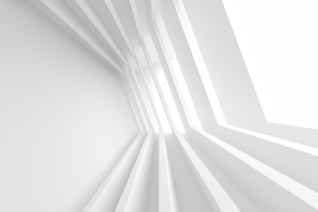 office construction: White Building Construction. Abstract Futuristic Architecture Background. Minimal Office Interior Design. Empty Room with Window. Geometric Shapes Structure. 3d Render