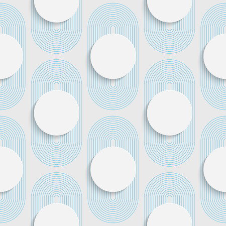 graphic pattern: Seamless Circle Pattern. White and Blue Wrapping Background. Abstract Modern Graphic Design