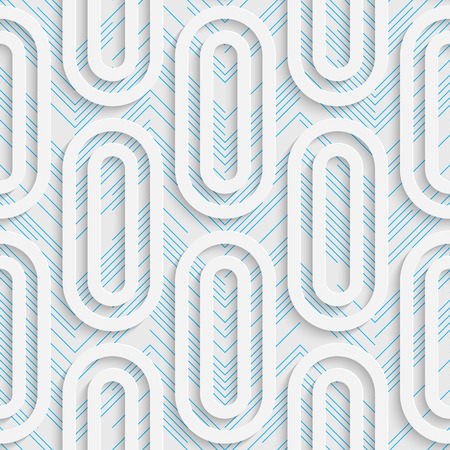futuristic wallpaper: Seamless Ellipse Design. Futuristic Tile Pattern. 3d Elegant Minimal Geometric Background. Abstract White and Blue Grid Wallpaper