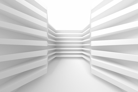 modern interior design: White Building Construction. Abstract Architecture Background. Modern Interior Design. 3d Rendering of White Minimal Technology Design
