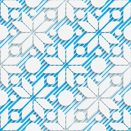 futuristic wallpaper: Seamless Star Design. Futuristic Tile Pattern. 3d Elegant Minimal Geometric Background. Abstract White and Blue Grid Wallpaper