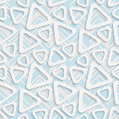 elegant wallpaper: Seamless Triangle Design. Futuristic Tile Pattern. 3d Elegant Minimal Geometric Background. Abstract White and Blue Grid Wallpaper Illustration