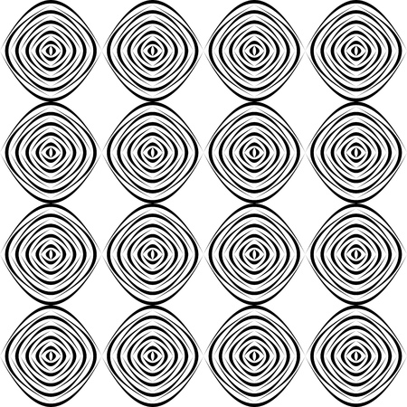 normal: Seamless Circle Background. Abstract Monochrome Pattern