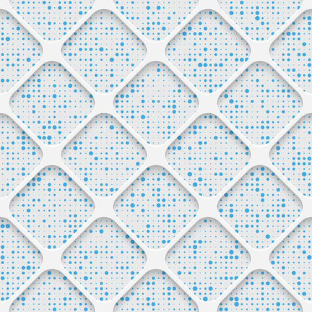 decorative wallpaper: Seamless Square Pattern. White and Blue Minimalistic Ornament. Geometric Decorative Wallpaper. Abstract Fashion Background. Print Graphic Design. Illustration