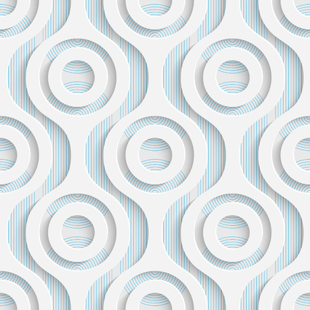 decorative wallpaper: Seamless Circle Pattern. White and Blue Minimalistic Ornament. Geometric Decorative Wallpaper. Abstract Fashion Background. Print Graphic Design. Illustration