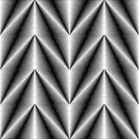 Seamless Triangle Pattern. Abstract Monochrome Background. Vector Regular Texture Ilustração