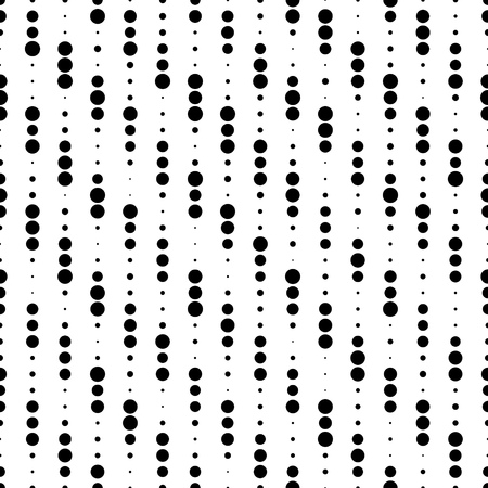 monochrome: Seamless Circle and Stripe Pattern. Vector Monochrome Texture. Chaotic Dots Design Illustration