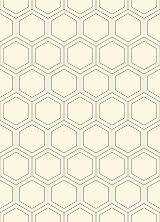 grig: Seamless Hexagon Pattern. Vector Monochrome Minimal Background. Abstract Grig Ornament. Minimalist Graphic Design