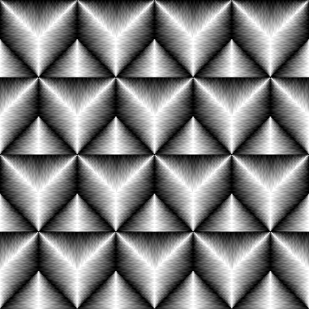 abstract seamless: Seamless Triangle Pattern. Abstract Monochrome Background. Vector Regular Texture Illustration