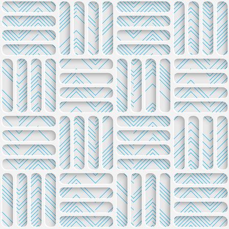 harmonious: Seamless Mosaic Pattern. Abstract 3d Realistic Background. Modern Fine Wallpaper. White Fashion Design